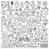 Μεγάλο σύνολο παιχνιδιών Στοκ φωτογραφία με δικαίωμα ελεύθερης χρήσης