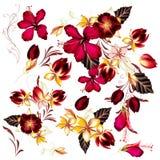 Μεγάλο σύνολο ρεαλιστικών διανυσματικών λουλουδιών για το σχέδιο Στοκ εικόνες με δικαίωμα ελεύθερης χρήσης