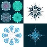 Μεγάλο σύνολο σχεδίου mandala Στοκ Φωτογραφίες