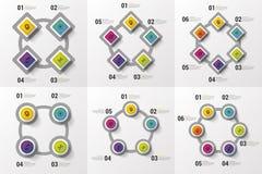 Μεγάλο σύνολο Infographic Στοιχεία για το επιχειρησιακό σχέδιο Σύγχρονη ζωηρόχρωμη έννοια επίσης corel σύρετε το διάνυσμα απεικόν Στοκ Εικόνες