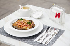 Μεγάλο τηγανισμένο θαλασσινά ρύζι 11 γούστου Στοκ Εικόνες