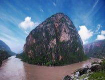 Μεγάλο φαράγγι ποταμών Jinsha Στοκ εικόνες με δικαίωμα ελεύθερης χρήσης