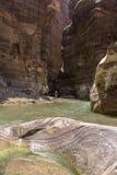 Μεγάλο φαράγγι της Ιορδανίας, φυσική επιφύλαξη Al Wadi mujib Στοκ Φωτογραφίες