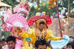 Μεγάλο φεστιβάλ των αγοριών χειροτονίας της Shan Στοκ Εικόνες
