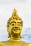 Μεγάλο χαμόγελο αγαλμάτων του Βούδα Στοκ Φωτογραφίες