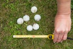 Μεγάλο χαλάζι μετά από το hailstorm στοκ εικόνες με δικαίωμα ελεύθερης χρήσης