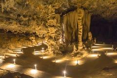 Μεγάλο δωμάτιο μέσα στις σπηλιές Cango στην έρημο Karoo Στοκ Φωτογραφία