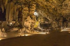 Μεγάλο δωμάτιο μέσα στις σπηλιές Cango στην έρημο Karoo Στοκ Εικόνες