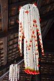 Μεγάλο ύφος Lanna λουλουδιών γιρλαντών στην Ταϊλάνδη Στοκ εικόνα με δικαίωμα ελεύθερης χρήσης