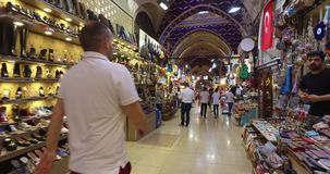 Μεγάλο Bazaar στη Ιστανμπούλ απόθεμα βίντεο