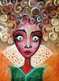 Μεγάλο eyed κορίτσι Στοκ Εικόνες