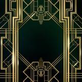 Μεγάλο Gatsby υπόβαθρο του Art Deco Στοκ Εικόνα
