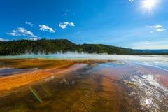 Μεγάλο Prismatic εθνικό πάρκο Yellowstone Στοκ Εικόνες