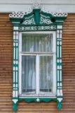 μεγάλο rostov Παράθυρο με χαρασμένος architraves Στοκ Εικόνα