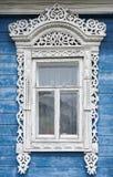 μεγάλο rostov Παράθυρο με χαρασμένος architraves Στοκ Εικόνες
