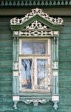 μεγάλο rostov Παράθυρο με χαρασμένος architraves Στοκ εικόνα με δικαίωμα ελεύθερης χρήσης