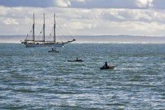 μεγάλο sailboat λευκό Στοκ Εικόνα