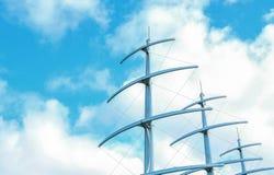 Μεγάλο sailboat ιστών Στοκ εικόνα με δικαίωμα ελεύθερης χρήσης