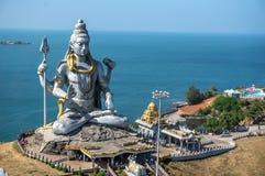 Μεγάλο Shiva Λόρδος Shiva Statue σε Murudeshwar, Karnataka, Ινδία Γύρος από Goa και Gokarna στοκ φωτογραφίες