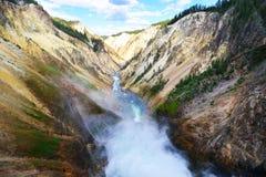 μεγάλο yellowstone ποταμών φαραγγι Στοκ Εικόνα