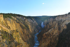 μεγάλο yellowstone ποταμών φαραγγι Στοκ Εικόνες