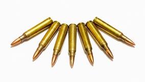 Μεγέθη 5 σφαίρα τουφεκιών 56 χιλ. Στοκ εικόνα με δικαίωμα ελεύθερης χρήσης