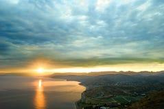 μεγαλοπρεπές ηλιοβασίλεμα στοκ εικόνες