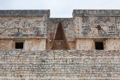 Μεγαλοπρεπής πόλη της Maya καταστροφών σε Uxmal, Μεξικό Στοκ Εικόνες
