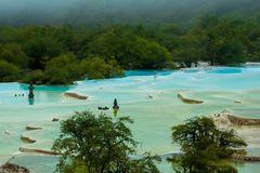 Μεγαλύτερες λίμνες αποτιτάνωσης σε Huanglong, Sichuan, Κίνα στοκ φωτογραφία με δικαίωμα ελεύθερης χρήσης