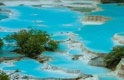 Μεγαλύτερες λίμνες αποτιτάνωσης σε Huanglong, Sichuan, Κίνα στοκ εικόνες