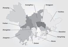 Μεγαλύτερος χάρτης Bay Area σε γκρίζο ελεύθερη απεικόνιση δικαιώματος