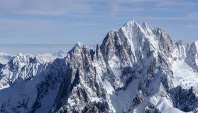 Μεγαλοπρεπές βουνό Aiguille Verte Στοκ φωτογραφίες με δικαίωμα ελεύθερης χρήσης