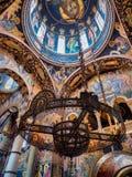 Μεγαλοπρεπές εσωτερικό Ορθόδοξων Εκκλησιών στοκ φωτογραφία με δικαίωμα ελεύθερης χρήσης