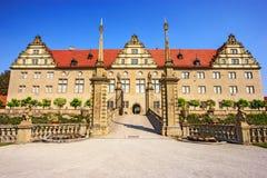 Μεγαλοπρεπής άποψη Weikersheim Schloss ή Weikersheim Castle, baden-Wurttemberg, Γερμανία Μια από τη ρομαντική οδική έλξη της Γερμ Στοκ φωτογραφία με δικαίωμα ελεύθερης χρήσης