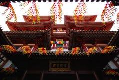 Μεγαλοπρεπής ασιατική αρχιτεκτονική ναών ύφους βουδιστική Στοκ φωτογραφία με δικαίωμα ελεύθερης χρήσης
