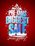Μεγαλύτερη έννοια σχεδίου πώλησης προ-Χριστουγέννων, νέες έτος και εκπτώσεις διακοπών Χριστουγέννων ελεύθερη απεικόνιση δικαιώματος