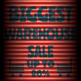 Μεγαλύτερο κόκκινο κόκκινο πρότυπο πώλησης αποθηκών εμπορευμάτων Στοκ Φωτογραφίες