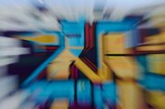 Μεγεθυμένα γκράφιτι σε έναν τοίχο Στοκ φωτογραφίες με δικαίωμα ελεύθερης χρήσης