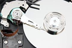 Μεγεθύνετε η εικόνα που ο σκληρός δίσκος ανοίγει τη τοπ κάλυψη μακριά. στοκ εικόνα με δικαίωμα ελεύθερης χρήσης