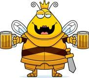Μεθυσμένη μέλισσα κινούμενων σχεδίων βασίλισσα Armor διανυσματική απεικόνιση