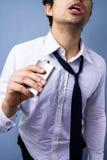 Μεθυσμένος και ακατάστατος επιχειρηματίας Στοκ Εικόνες