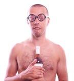 Μεθυσμένος τύπος nerd eyeglasses Στοκ Φωτογραφία