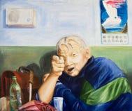 Μεθυσμένο άτομο στον πίνακα στοκ εικόνες