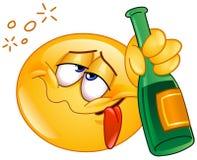 Μεθυσμένο emoticon Στοκ Εικόνες