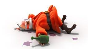 μεθυσμένο santa Στοκ Εικόνα