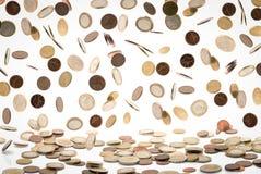 Μειωμένα ευρο- νομίσματα Στοκ φωτογραφίες με δικαίωμα ελεύθερης χρήσης