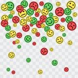 Μειωμένα ζωηρόχρωμα smileys επίσης corel σύρετε το διάνυσμα απεικόνισης ελεύθερη απεικόνιση δικαιώματος