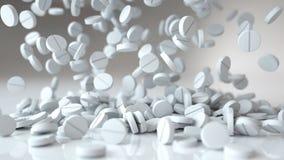 Μειωμένα χάπια, ταμπλέτες ΙΑΤΡΙΚΗ έννοια τρισδιάστατη απόδοση διανυσματική απεικόνιση