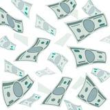 Μειωμένα χρήματα, διανυσματικό υπόβαθρο τραπεζογραμματίων αμερικανικού νομίσματος Στοκ Φωτογραφία