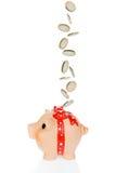 μειωμένα χρήματα τραπεζών piggy στοκ εικόνα με δικαίωμα ελεύθερης χρήσης